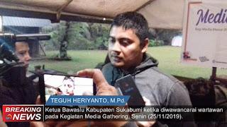 Ketua Bawaslu Kabupaten Sukabumi Teguh Hariyanto
