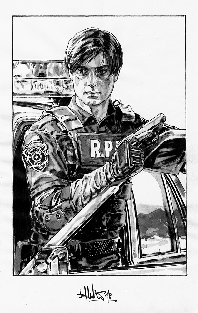 Kopfstoff Resident Evil 2 Fan Art Rookie