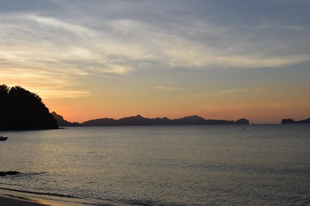 sunset philippines El nido