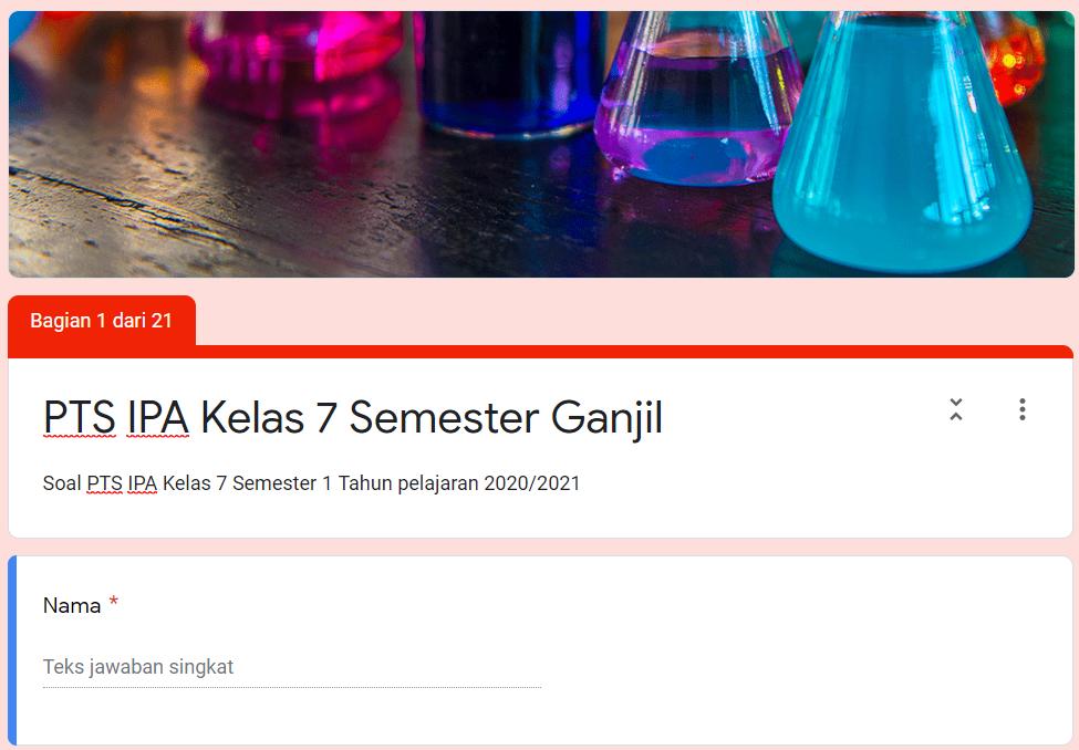 Soal Pts Online Ipa Smp Kelas 7 Kurikulum 2013 Tahun Pelajaran 2020 2021 Didno76 Com
