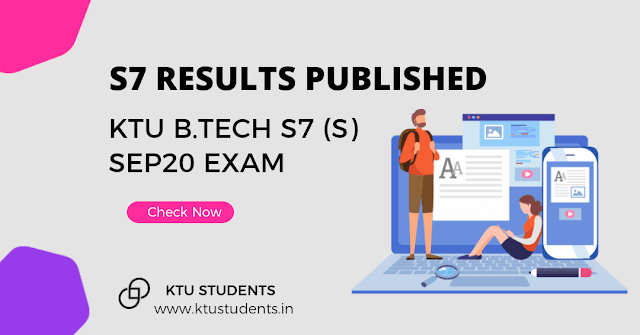 ktu result published s7 supply 2020