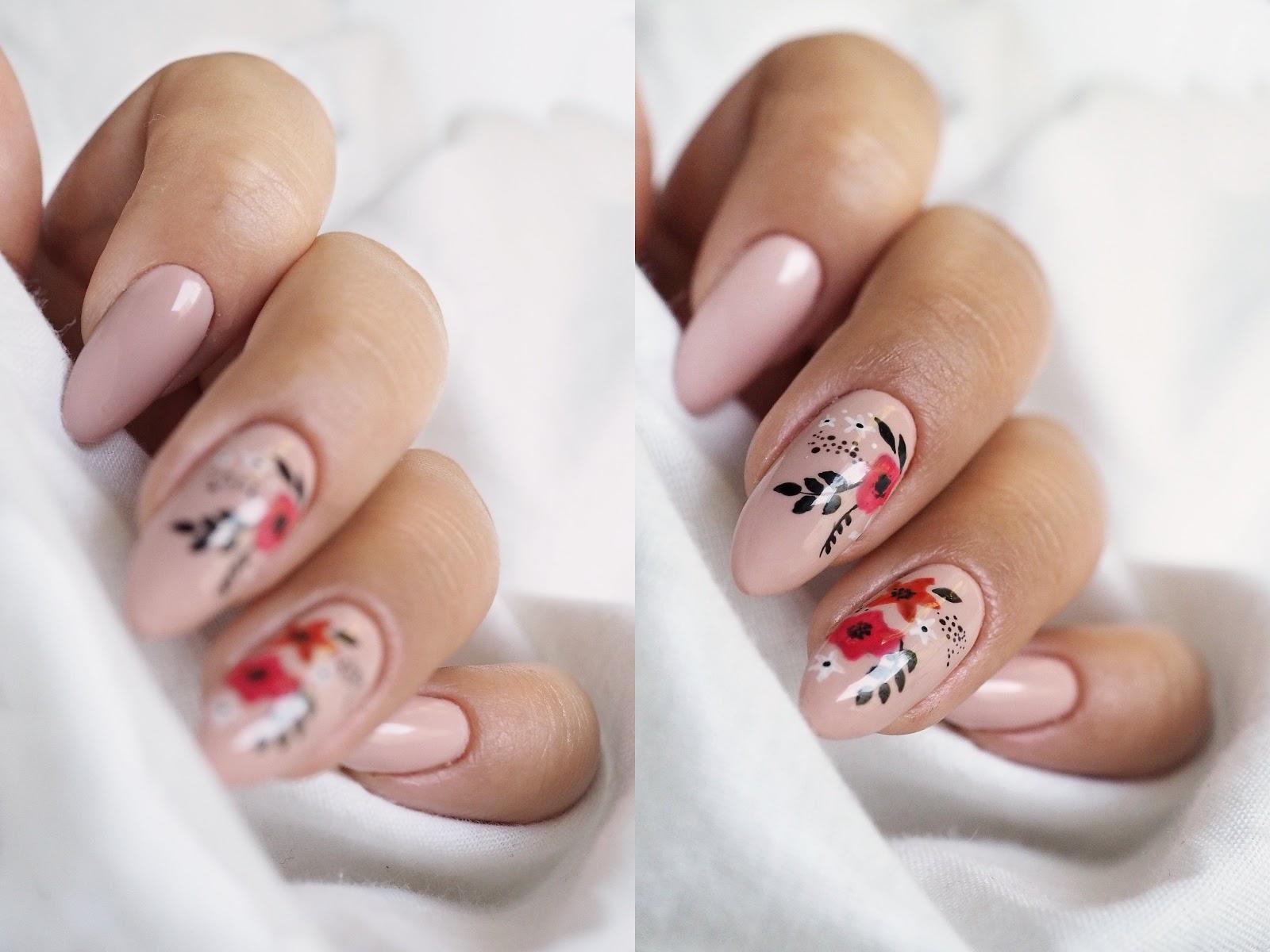 proste wzory na paznokcie