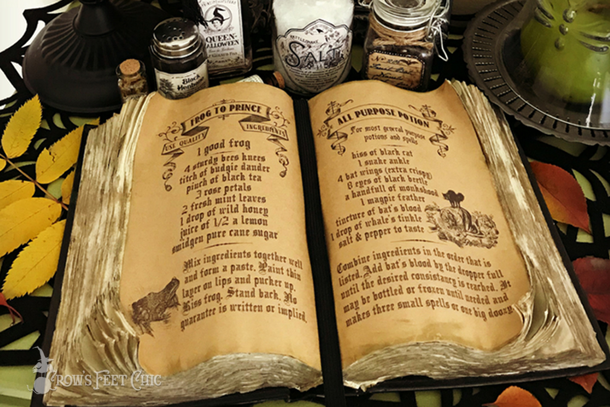 Witches Spell Book Free Printable Crow S Feet Chic
