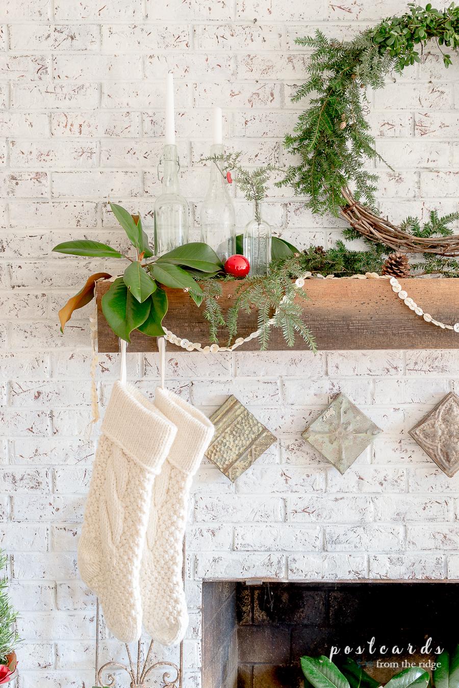 Rustic Natural Christmas Mantel And Christmas Ideas Tour