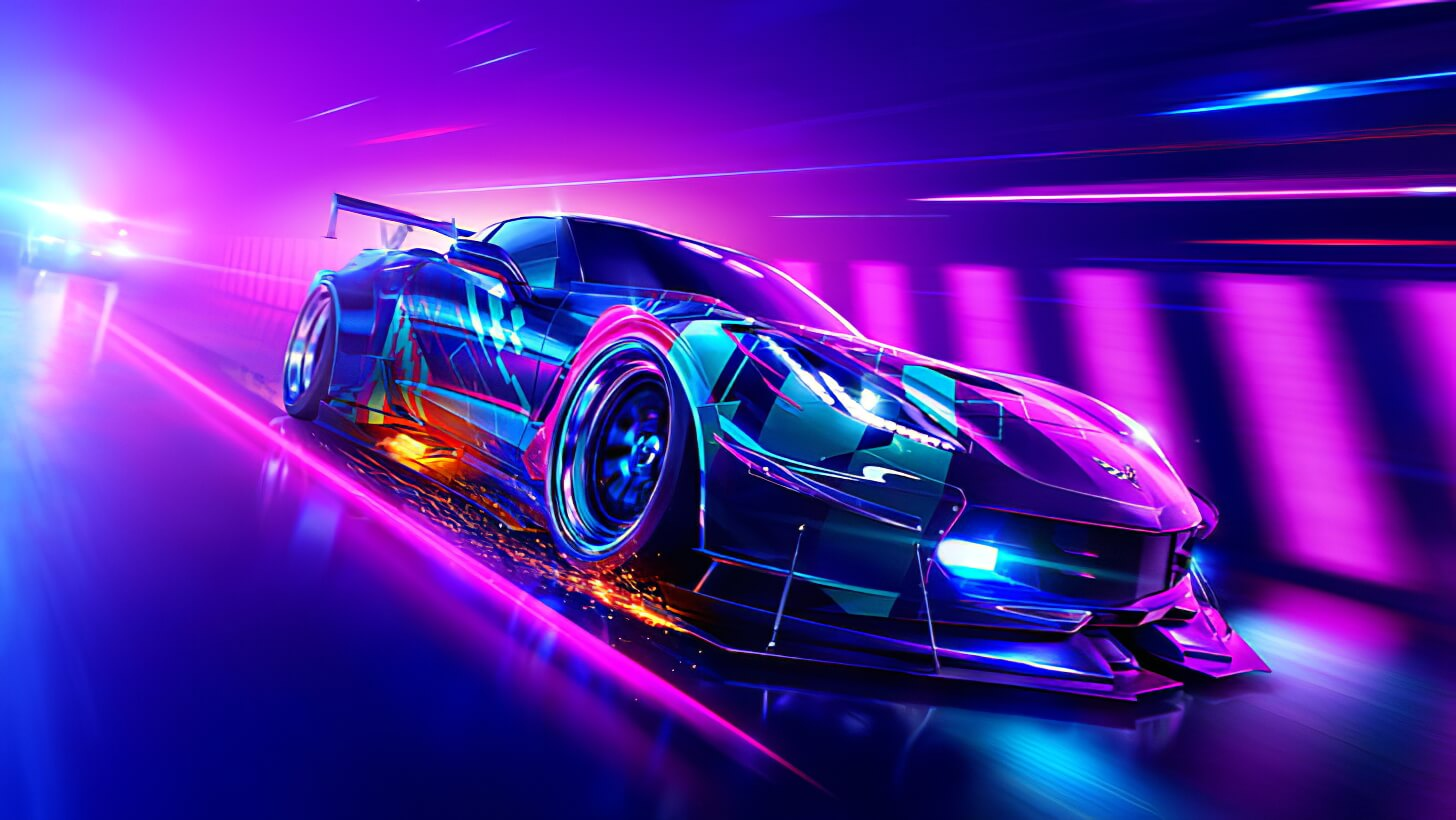 car neon chevrolet corvette race cars wallpaper