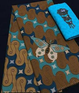 Kain batik primis halus motif kupu-kupu murah