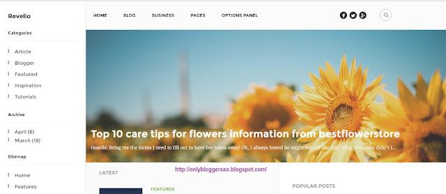 Revelio Blogger template free download