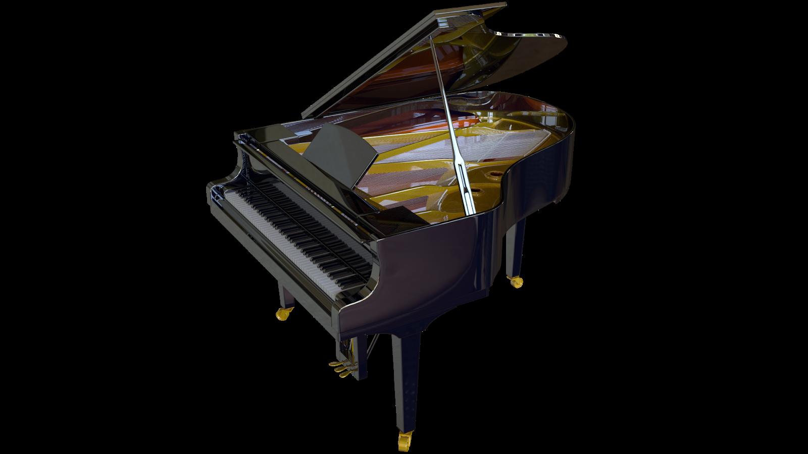 Free 3D Yamaha C3 Grand Piano CC0 3DS - Free 3D Models Under Public Domain