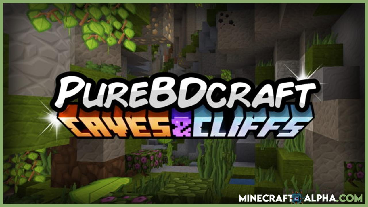 Minecraft New PureBDCraft 1.17 Fps Boost Resource Pack (Caves & Cliffs, Nether Update Texture Pack)