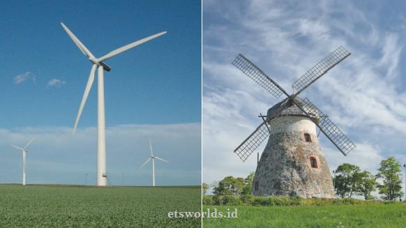 Perbedaan Turbin Angin dan Kincir Angin