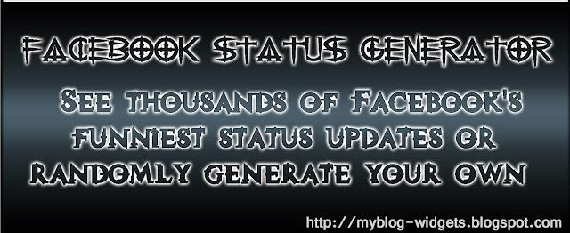 My Blog Widgets: Generator