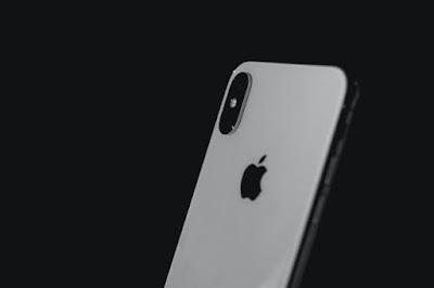 grey iphone black background