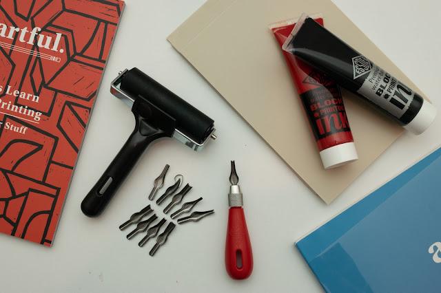 Printing materials for lino printing
