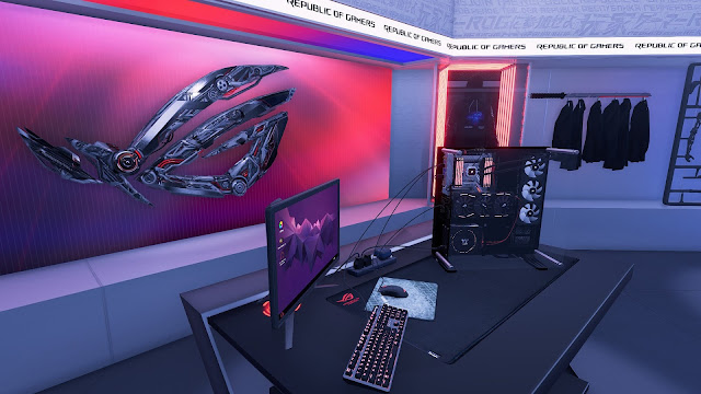PC Building Simulator Republic of Gamers Workshop PC Full imagenes