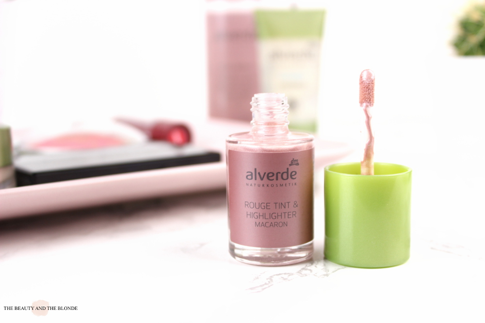 alverde neuheiten 2017 Rouge Tint und highlighter review swatches