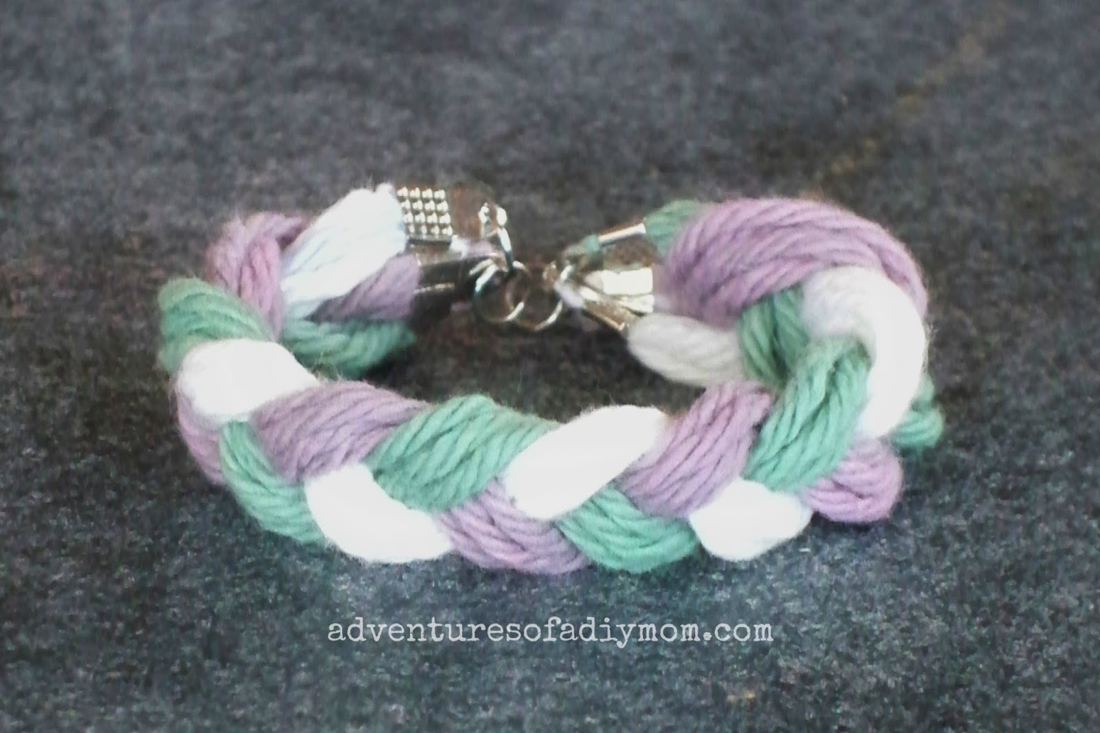 Braided Yarn Friendship Bracelet Peaches & Cream Freshly Pressed