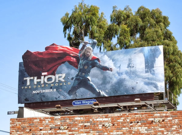 Thor Dark World special extension movie billboard