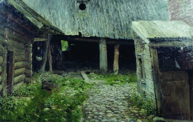 Исаак Ильич Левитан - Ветхий дворик. Плёс. 1888-1890