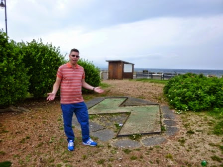 Richard Gottfried at the derelict Eternit Miniature Golf course on Ayr seafront in July. It was the 230th unplayable course on our tour and 572nd visited overall
