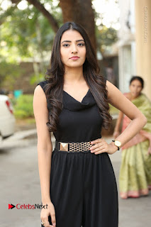 Telugu Actress Rukhsar Mir Stills in Black Long Dress at Aakatayi Movie First Look Launch  0096.JPG
