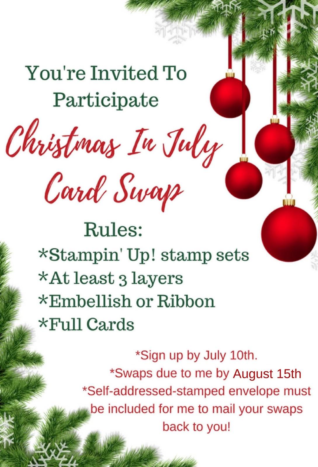 Debbie\'s Designs: Team & Customer Christmas In July Swap Cards!