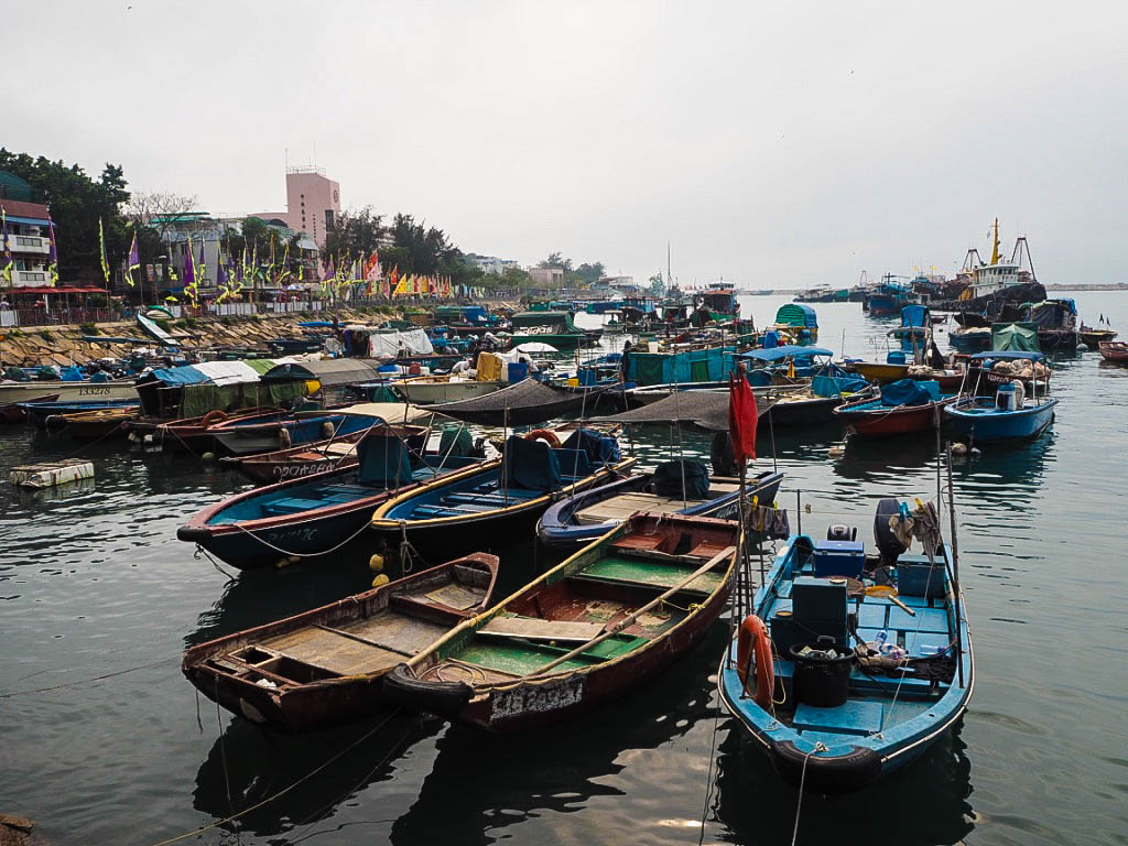 Fishing boats on Cheung Chau island, Hong Kong