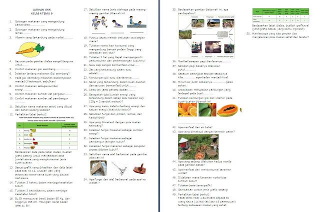 Soal PAS Kelas 4 SD/MI: Tema 9