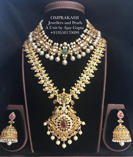 Uncut Mango Mala Choker by Omprakash Jewellers