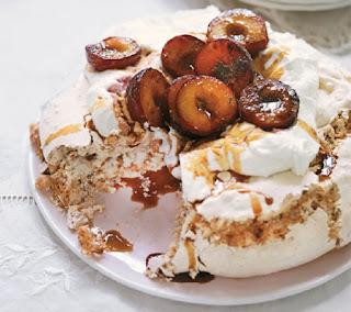 spiced plum hazelnut meringue recipe