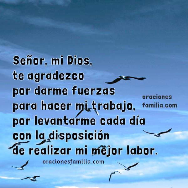 Oración del hombre trabajador, plegaria de la mujer trabajadora, oraciones cortas del trabajo por Mery Bracho.