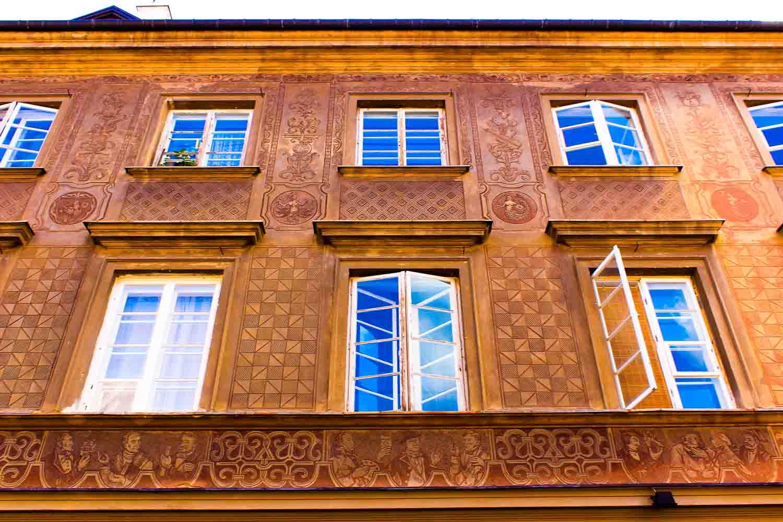 Warsaw architecture building facade
