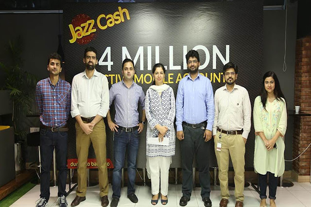 #JazzCash Hits 4 Million Active Mobile Account Subscribers Milestone