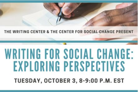 Writing for Social Change: Exploring Perspectives webinar
