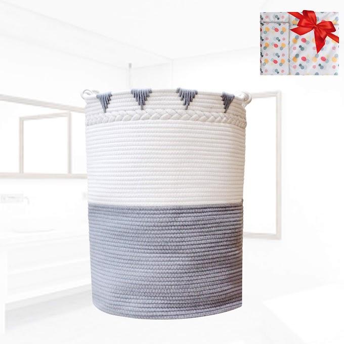 AMAZON - 30% OFF XXXL Large Laundry Basket Cotton Rope Basket