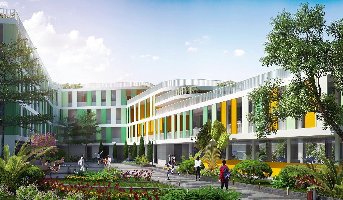 Khuôn viên trường học trong khu đô thị Him Lam Green Park
