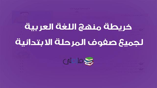 خريطة منهج اللغة العربية للمرحلة الابتدائية
