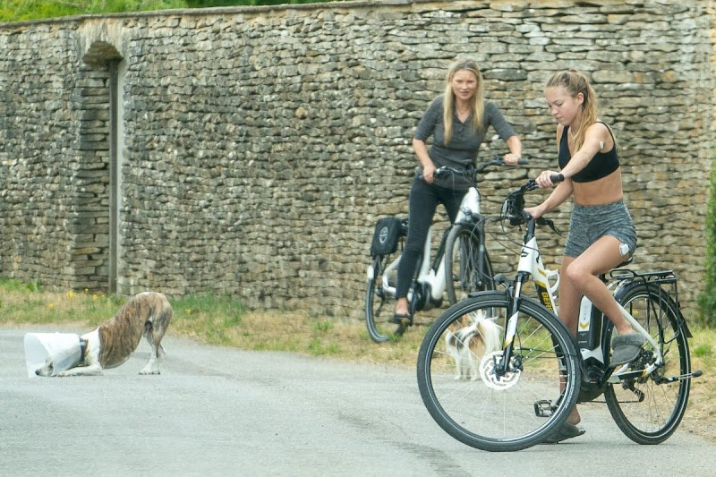 Kate Moss, Lila Grace Moss Out Riding Bikes in Cotswold 16 Jun -2020