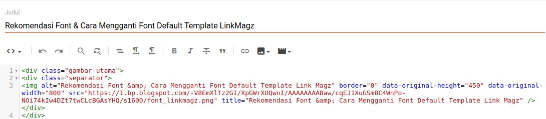 Cara Membuat Gambar Pertama Blog Full Width Template LinkMagz