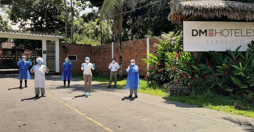 DM Hoteles de la Derrama Magisterial en Tarapoto recibe a pacientes provenientes de Chiclayo