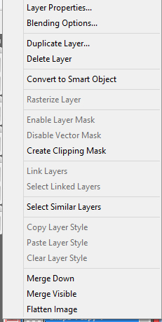 layer option