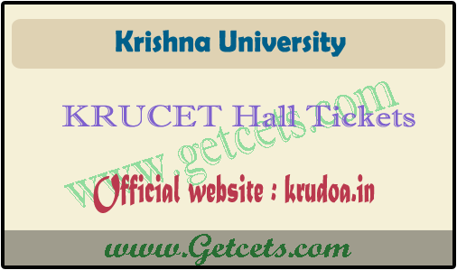 KRUCET hall tickets 2021 download, Krishna University pgcet