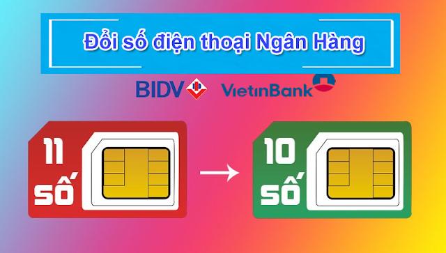 Cách đổi số điện thoại đăng ký ngân hàng từ 11 số sang 10 số tại nhà