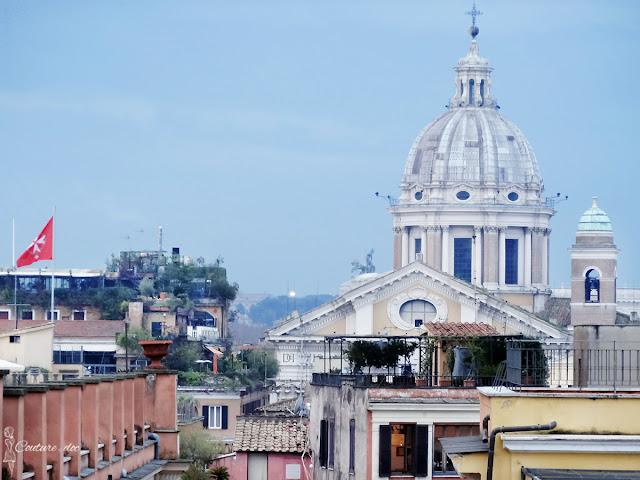 panorama, rzym, trinita dei monti, hiszpaskie schody