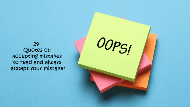 Quotes on accepting mistakes