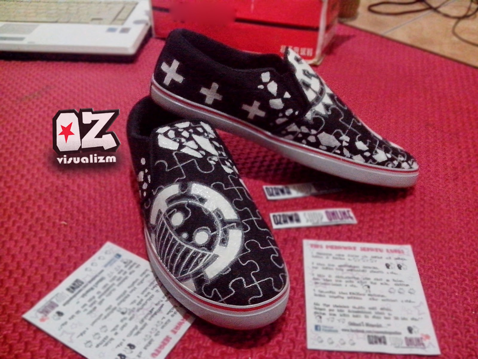 Ozawa Visualizm online shopz  SEPATU LUKIS LAW ( ONE PIECE ) 48b5afe756