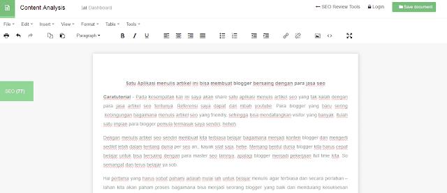 cara menulis artikel seo