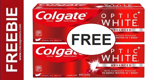 FREE Colgate Optic White Toothpaste CVS Deal 1-5-1-11