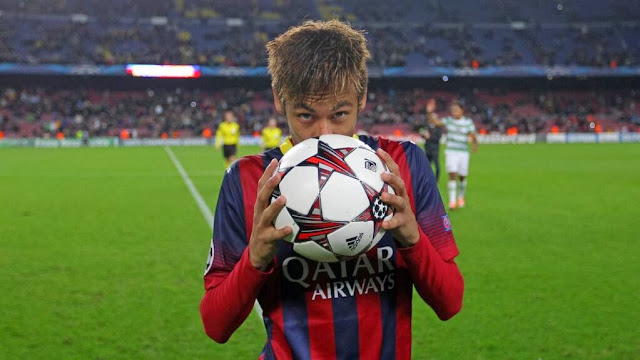 Neymar with the Match Ball