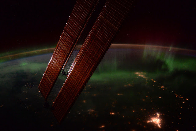 Magical Aurora Borealis from International Space Station