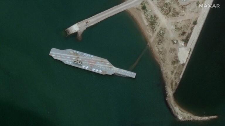 أسوشيتد-برس-إيران-تعيد-بناء-نموذج-لحاملة-طائرات-الأمريكية-للتدريب